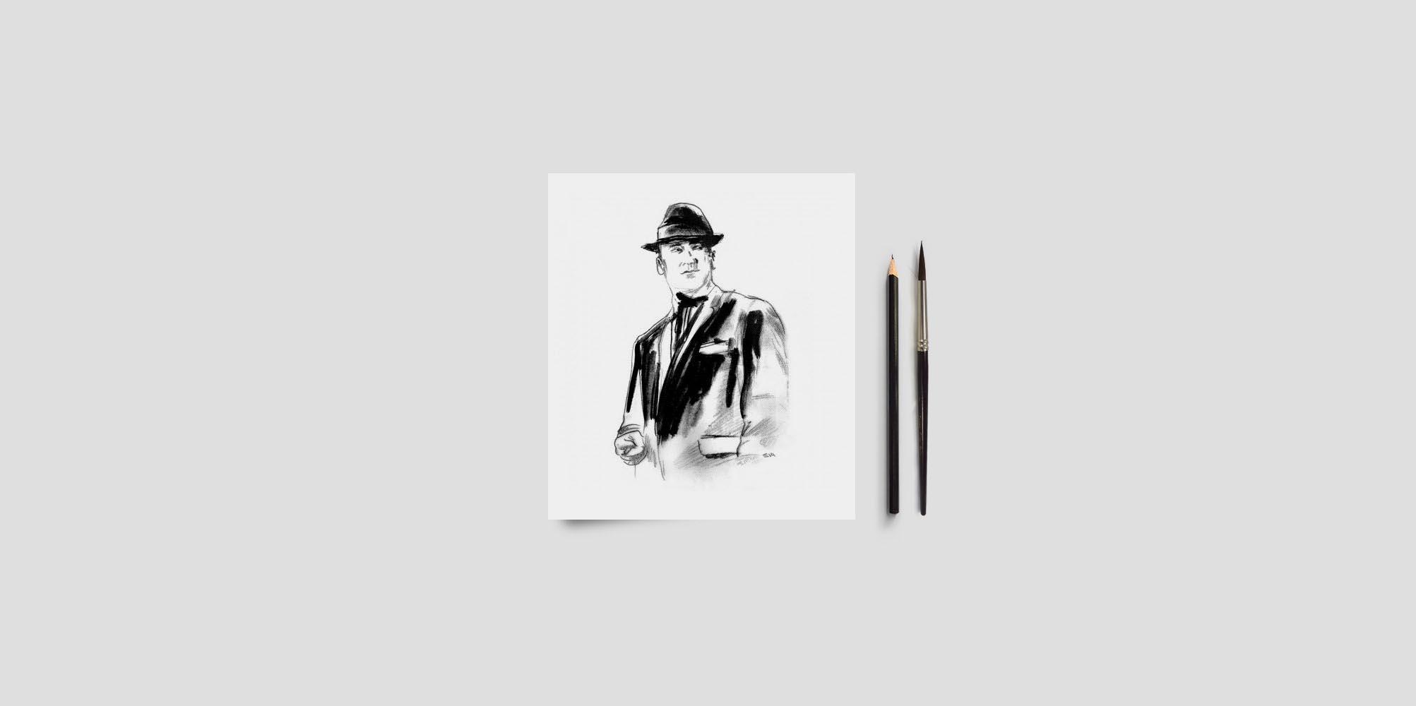 Ilustraciones de Eduardo Morales para la revista A Quemarropa En colaboración con la Semana Negra de Gijón