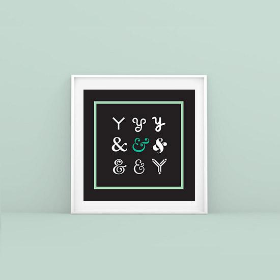 & ampersands - framed artworks for hairdresser salon Corto & Cambio.