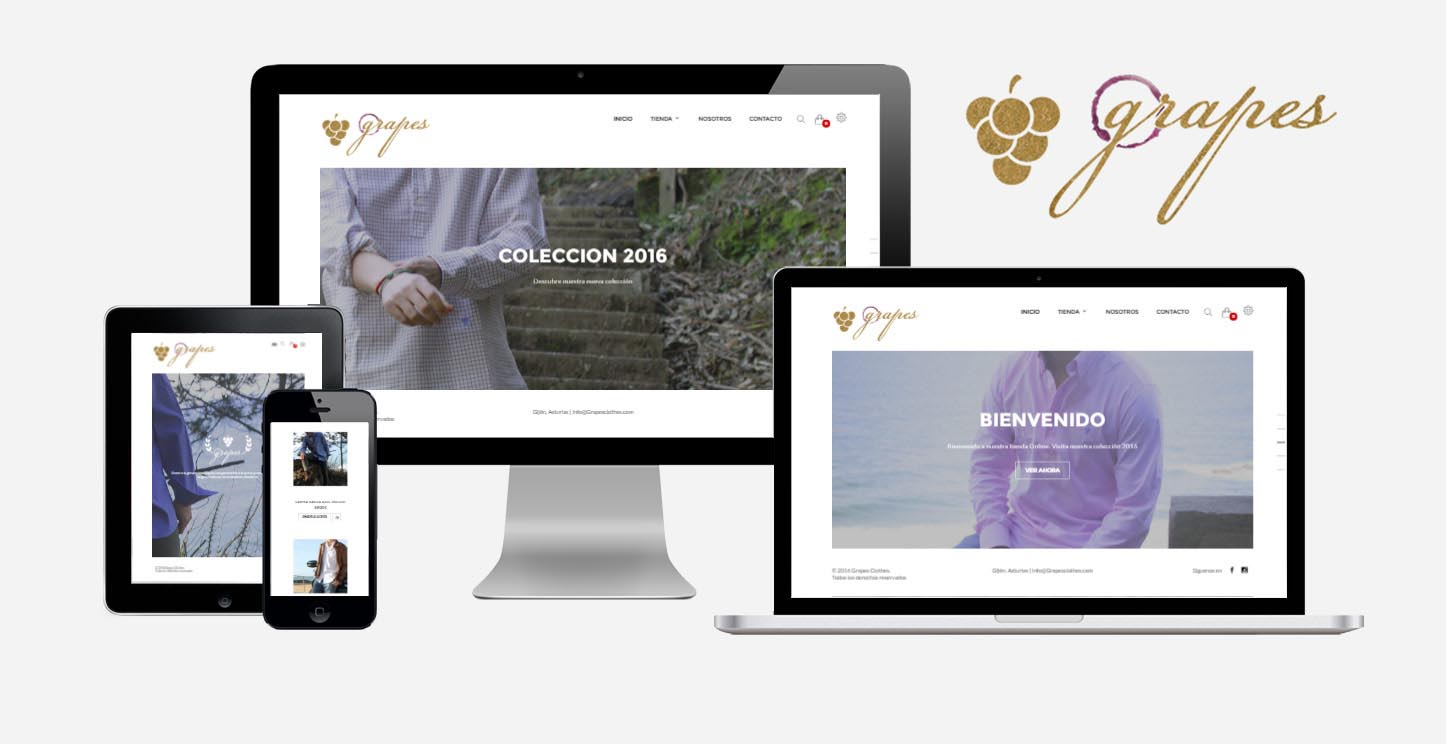 Grapesclothes - young fashion shirts - eCommerce website by Eduardo Morales