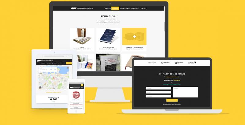 Encuadernaciones Abella -Responsive web Design