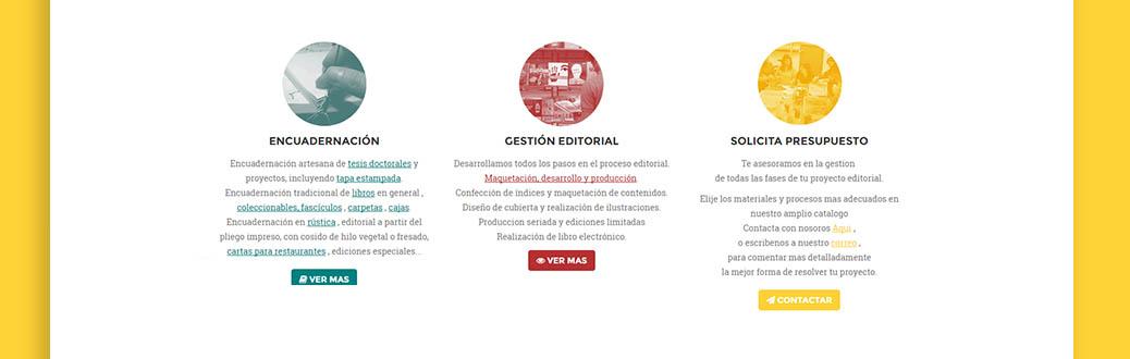 Encuadernaciones Abella website