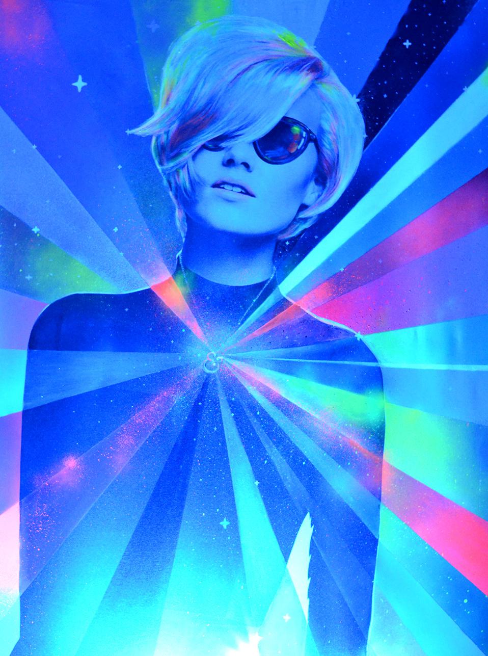 Neon Lady by Eduardo Morales