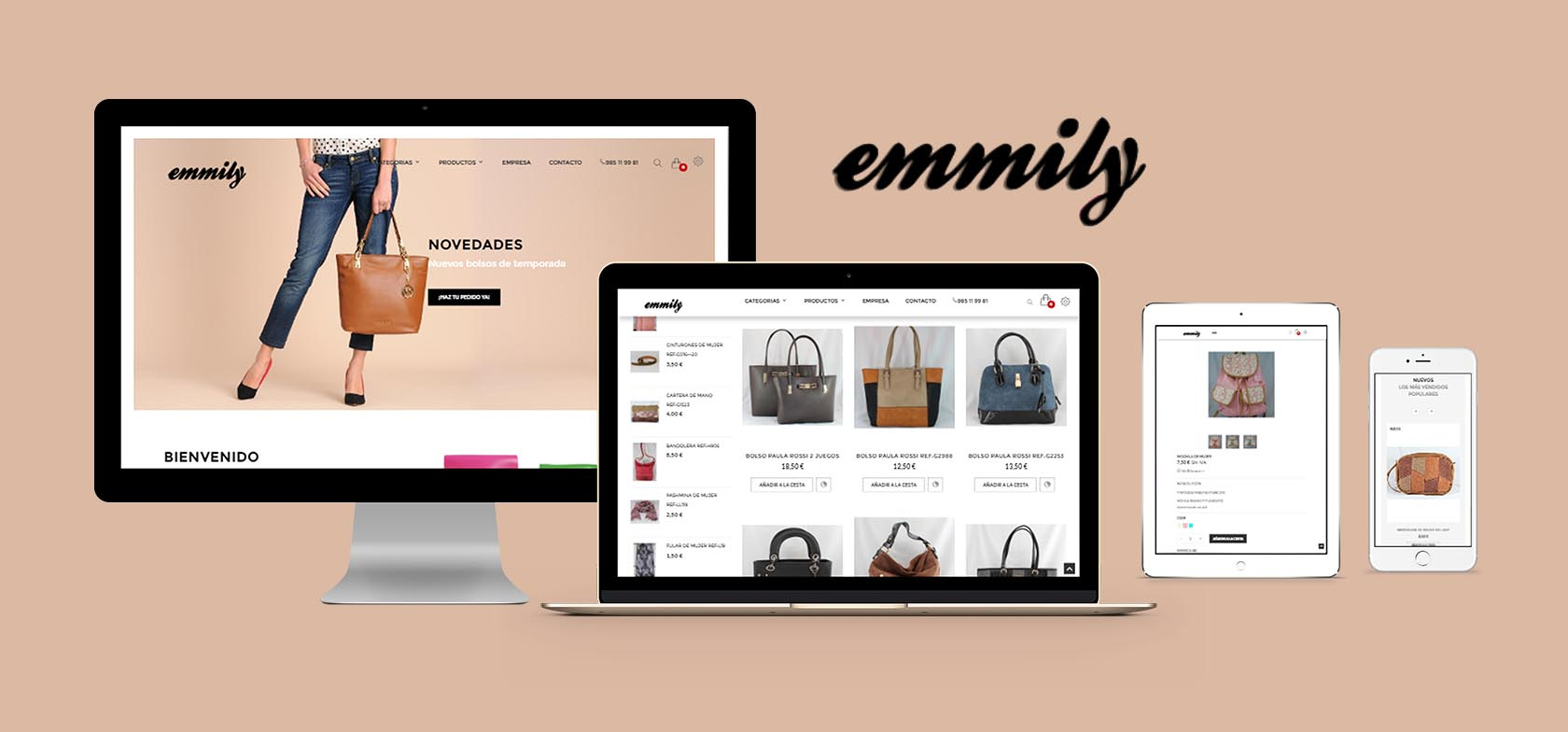 Bolsosemmily e-Commerce website - designed by Eduardo Morales