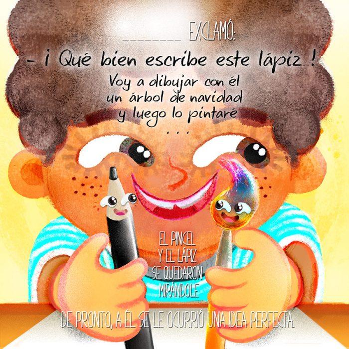 El Lapiz, el Pincel y tu - CUENTO-INFANTIL- VERSION CHICO