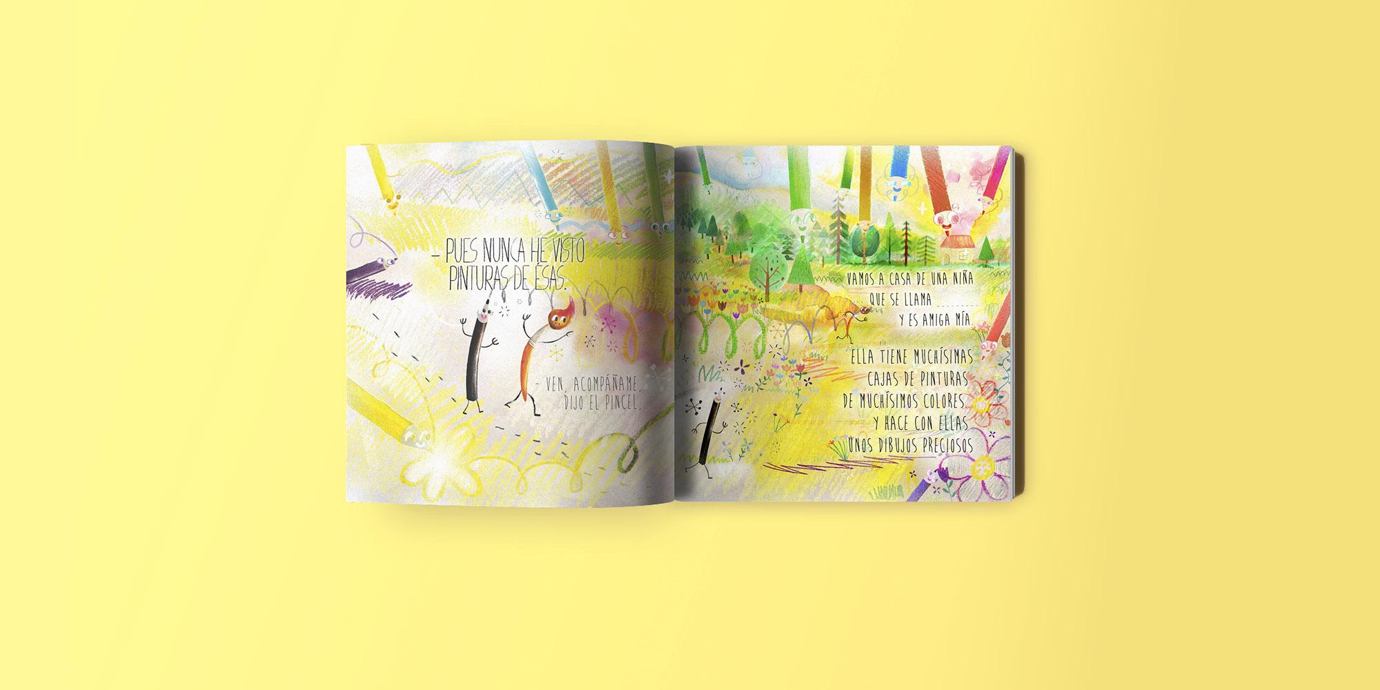 El lapiz, el pincel y tu - Cuentos infantiles - ilustraciones de Eduardo Morales