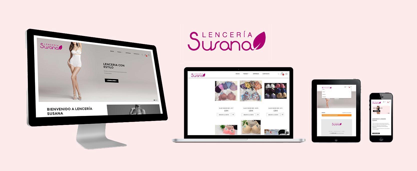 Lenceria Susana eCommerce website by Eduardo Morales