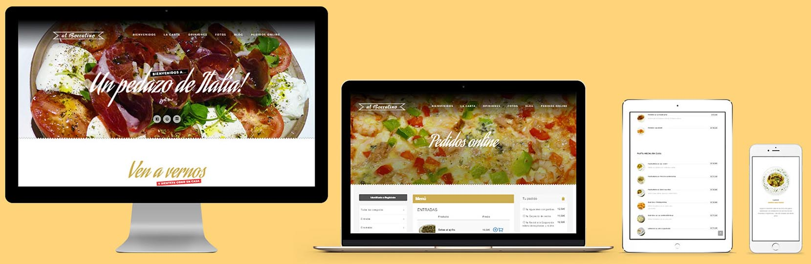 Restaurante Al boccalino website by