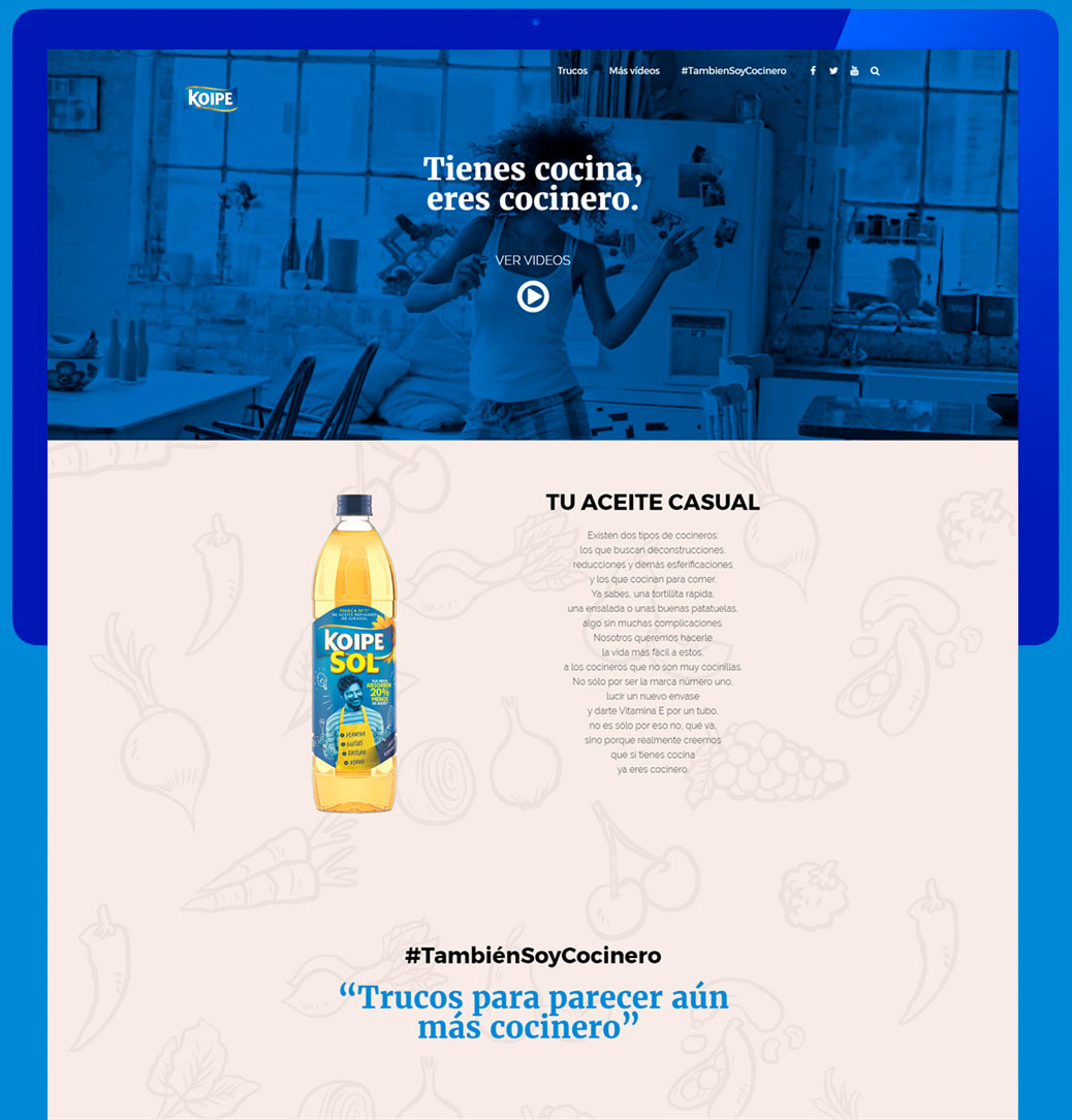KoipeSol landing page- Eduardo Morales - Multimedia works